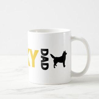 Papá del husky siberiano taza clásica