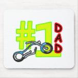 Papá del interruptor del día de padre #1 el regalo tapetes de raton
