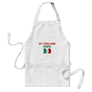 Papá del italiano #1 delantales