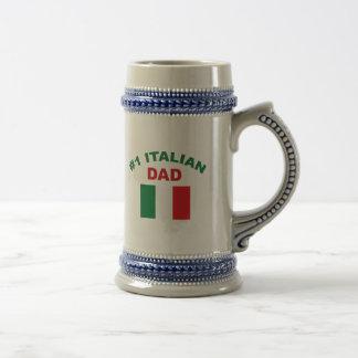 Papá del italiano #1 jarra de cerveza