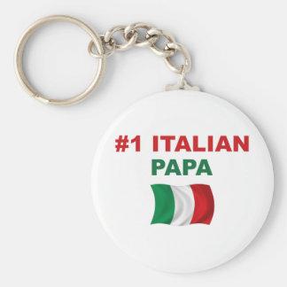Papá del italiano #1 llavero redondo tipo pin