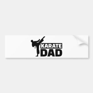 Papá del karate pegatina para auto