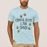 Papá del laboratorio del chocolate playera