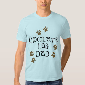 Papá del laboratorio del chocolate polera