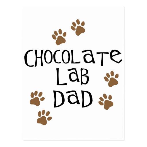 Papá del laboratorio del chocolate postales