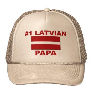 Papá del Latvian #1 Gorros