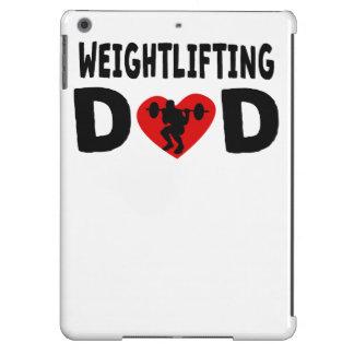 Papá del levantamiento de pesas funda para iPad air
