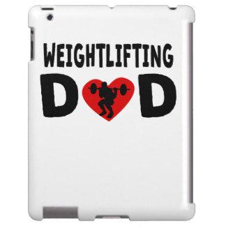 Papá del levantamiento de pesas funda para iPad