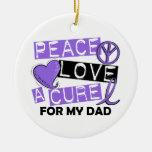 Papá del linfoma de la curación H del amor de la p Ornamentos Para Reyes Magos