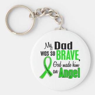 Papá del linfoma Non-Hodgkin del ángel 1 Llavero Redondo Tipo Pin