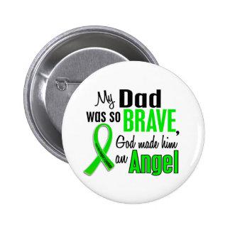Papá del linfoma Non-Hodgkin del ángel 1 Pin Redondo De 2 Pulgadas