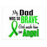 Papá del linfoma Non-Hodgkin del ángel 1 Postal