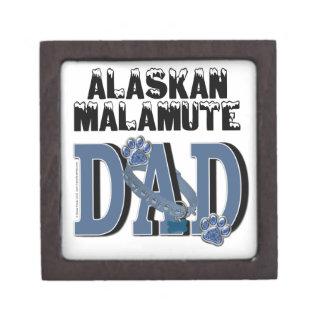 PAPÁ del Malamute de Alaska Cajas De Joyas De Calidad