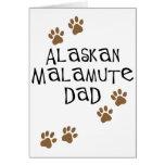 Papá del Malamute de Alaska Felicitación