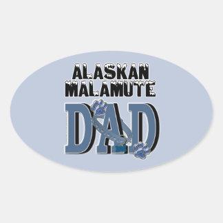 PAPÁ del Malamute de Alaska Pegatina Ovalada