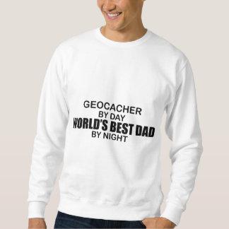 Papá del mundo de Geocacher el mejor por noche Sudadera
