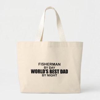 Papá del mundo del pescador el mejor por noche bolsas