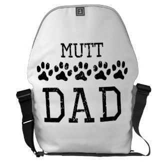 Papá del Mutt (apenado) Bolsas Messenger