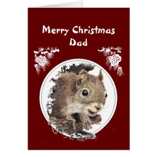 Papá del navidad del manojo de ardilla Nuts Tarjeta De Felicitación