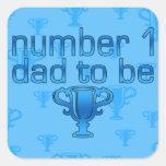 Papá del número 1 a ser pegatina cuadradas personalizada