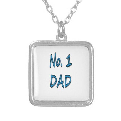 Papá del número 1 colgantes personalizados
