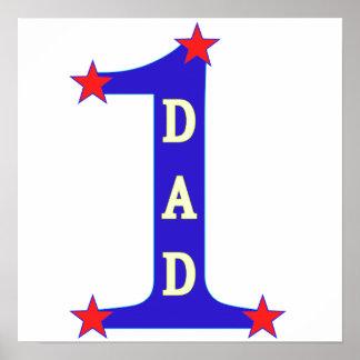 Papá del número #1 poster