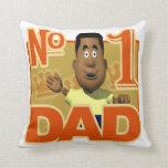 Papá del número uno almohadas