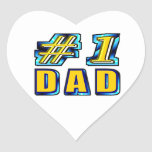 Papá del número uno colcomanias corazon