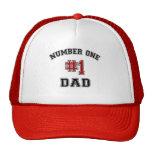 Papá del número uno gorras