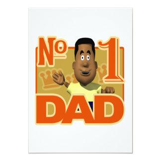 """Papá del número uno invitación 5"""" x 7"""""""