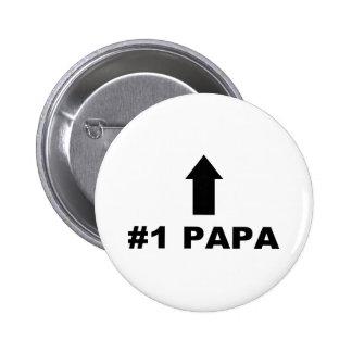 Papá del número uno pin