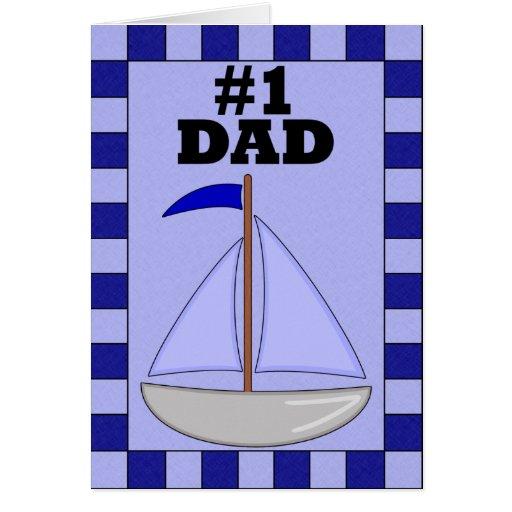 Papá del número uno tarjeta de felicitación