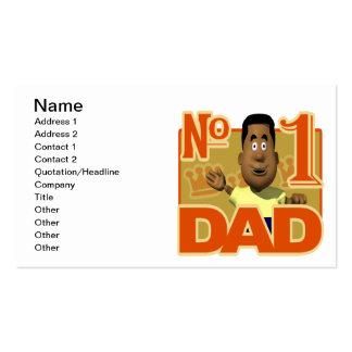Papá del número uno tarjetas de visita