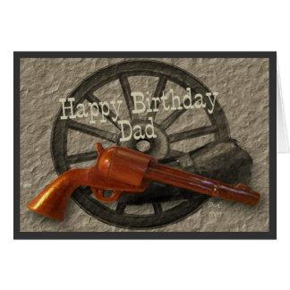 Papá del oeste salvaje del feliz cumpleaños del ~ tarjeta de felicitación
