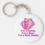 Papá del oso llavero personalizado