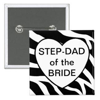 Papá del paso de la novia pin cuadrado