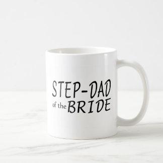 Papá del paso de la novia tazas de café