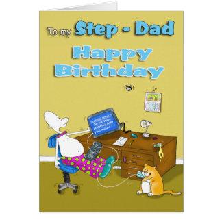papá del paso del cumpleaños tarjeta de felicitación