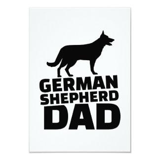 Papá del pastor alemán invitación 8,9 x 12,7 cm