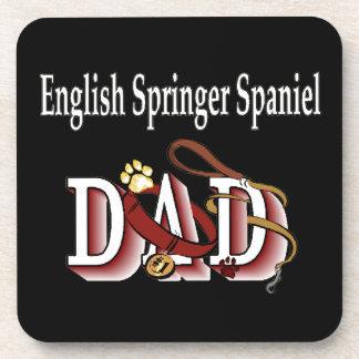 Papá del perro de aguas de saltador inglés posavasos