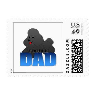 Papá del perro de caniche sellos