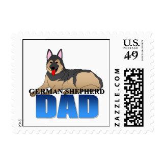 Papá del perro de pastor alemán sello