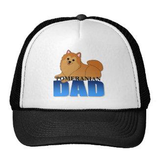 Papá del perro de Pomeranian Gorros