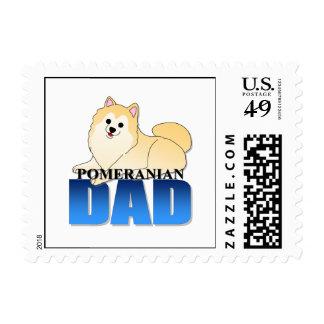 Papá del perro de Pomeranian Franqueo