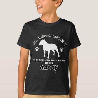 Papá del perro de Staffordshire Terrier americano Camisas
