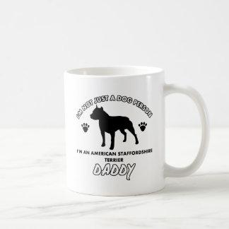 Papá del perro de Staffordshire Terrier americano Taza