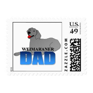 Papá del perro de Weimaraner Sello