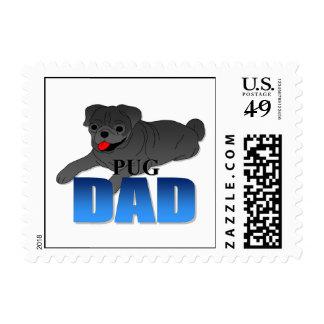 Papá del perro del barro amasado sello