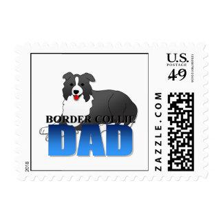 Papá del perro del border collie franqueo