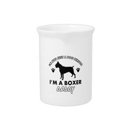 Papá del perro del boxeador jarra para bebida